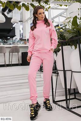 Велюровый женский спортивный костюм батал, размеры L-XL