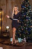 Платье женское чёрное нарядное новогоднее вечернее, фото 2