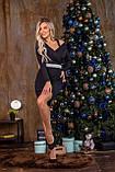 Платье женское чёрное нарядное новогоднее вечернее, фото 5