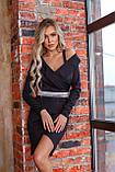 Платье женское чёрное нарядное новогоднее вечернее, фото 4