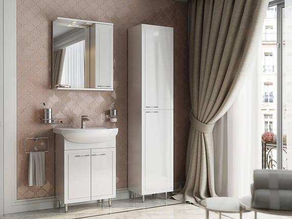 Зеркало Aquarius Elegance со шкафчиком и подсветкой 55 см, фото 2