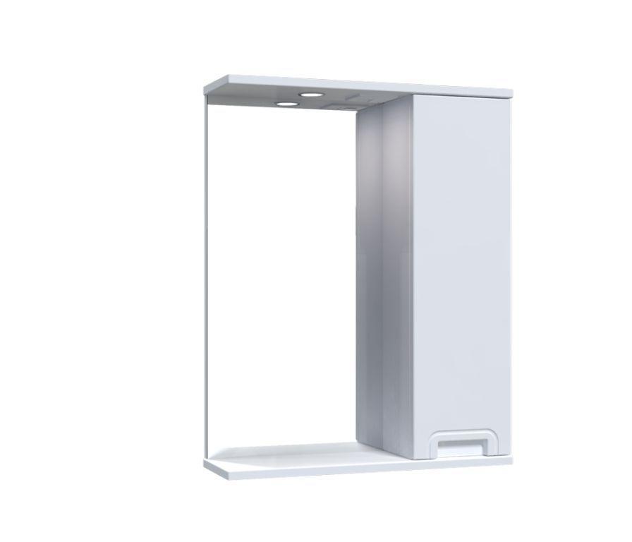 Зеркало Aquarius SIMPLI со шкафчиком и подсветкой 55 см