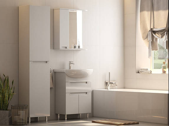 Зеркало Aquarius SIMPLI со шкафчиком и подсветкой 65 см, фото 2