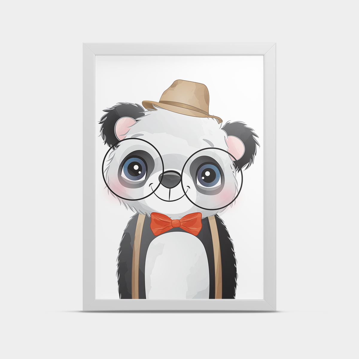 Постер в детскую Панда в очках 20*30 см