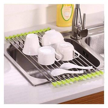 🔥✅  Сушарка для посуду на мийку Kitchen Drainboard салатова 23*47 см, вішалка - підставка для посуду (SV)