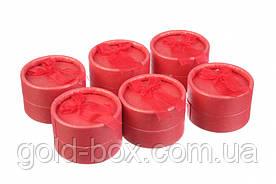Коробочки для бижутерии круглые 24 шт Red