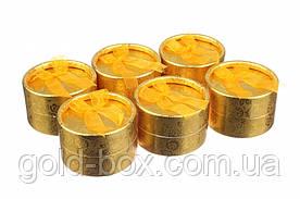 Коробочки для бижутерии круглые 24 шт Gold