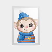 Постер в детскую Обезтяна 20*30 см