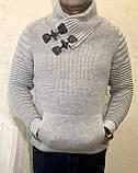 Тёплые турецкие мужские шерстяные свитера, фото 2