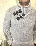 Тёплые турецкие мужские шерстяные свитера, фото 3