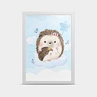 Постер на стену Ежики 20*30 см