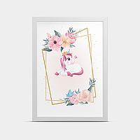 Постер в рамке Единорог 20*30 см