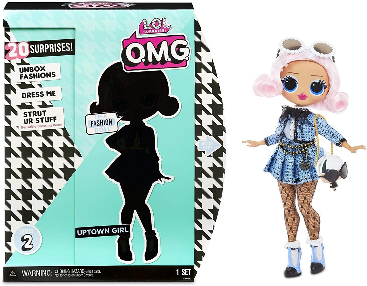 Кукла ЛОЛ ОМГ Аптаун Герл L. O. L. Surprise O. M. G. OMG 2.8-Uptown Girl LOL OMG с розовыми волосами