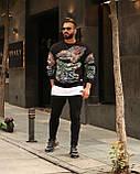 Мужской кофта свитшот M689 черная, фото 2