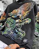 Мужской кофта свитшот M689 черная, фото 3