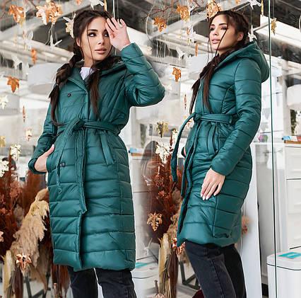 """Женское демисезонное пальто 5-266 """"Плащёвка Капюшон"""""""