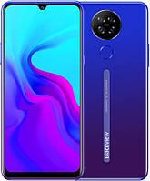 Безрамковий Смартфон Blackview A80+подарунки протиударний чохол і захисна плівка Blue Gradient