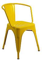 Кресло металличиское Bonro B- 101 желтое, фото 1