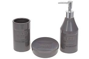 Набор для ванной Bath: дозатор 350мл, стакан для зубных щеток 270мл, мыльница, цвет - молочный(851-305)