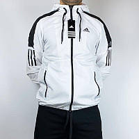 Ветровка мужская Adidas белая. Куртка чоловіча Adidas біла