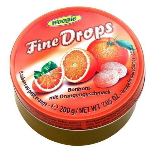 Льодяники з смаком апельсина Fine Drops Orange 200 г.