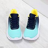Яркие люксовые молодежные мятные голубые текстильные женские кроссовки, фото 2