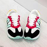 Яркие разноцветные комбинированные молодежные женские кроссовки, фото 2