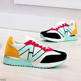 Яркие разноцветные комбинированные молодежные женские кроссовки, фото 3