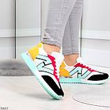 Яркие разноцветные комбинированные молодежные женские кроссовки, фото 4