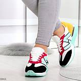 Яркие разноцветные комбинированные молодежные женские кроссовки, фото 5