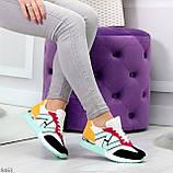 Яркие разноцветные комбинированные молодежные женские кроссовки, фото 6