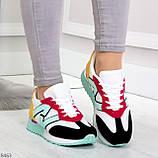 Яркие разноцветные комбинированные молодежные женские кроссовки, фото 7