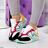 Яркие разноцветные комбинированные молодежные женские кроссовки, фото 8