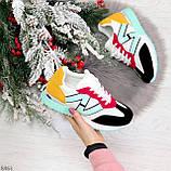Яркие разноцветные комбинированные молодежные женские кроссовки, фото 9
