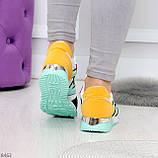 Яркие разноцветные комбинированные молодежные женские кроссовки, фото 10