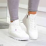 Высокие белые демисезонные женские кроссовки на флисе, фото 9