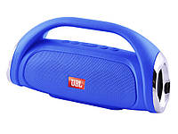 Bluetooth-колонка JBL BOOMBOX SMALL LQ-09 (с фонарем), c функцией speakerphone, Power Bank, радио Синий