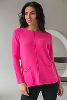 Джемпер с накладными карманами P-M - розовый цвет, L/XL (есть размеры), фото 1