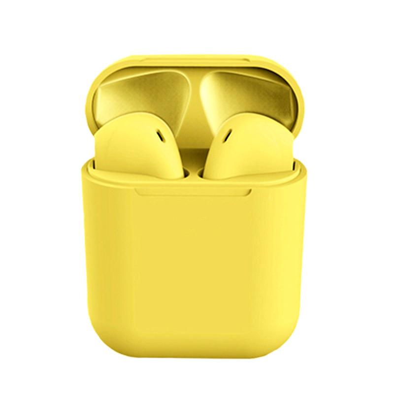 Беспроводные сенсорные наушники i12 tws airpods Желтые