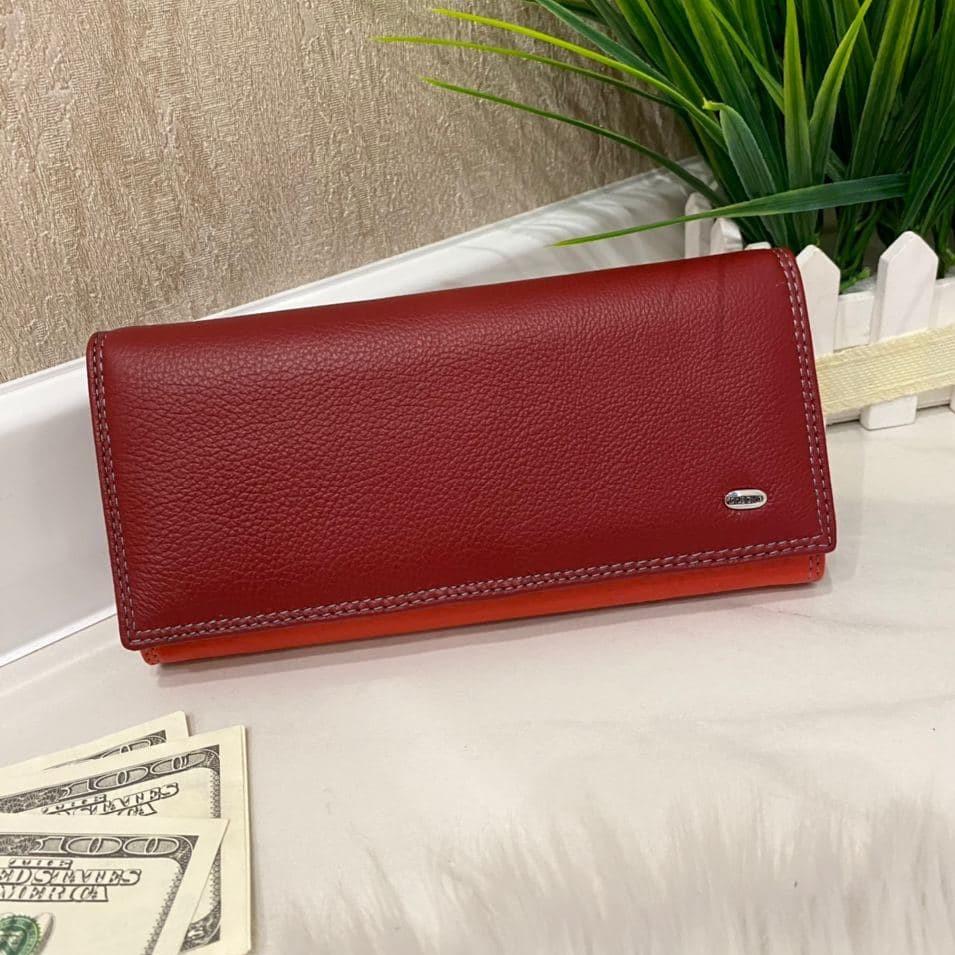 Женский кожаный кошелек Dr. Bond Classic красный КБК564