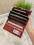 Женский кожаный кошелек Dr. Bond Classic красный КБК564, фото 5