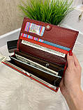 Женский кожаный кошелек Dr. Bond Classic красный КБК564, фото 6