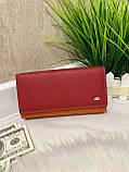 Женский кожаный кошелёк Dr. Bond Business с визитницей красный КБВ852, фото 8