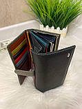 Женский кожаный кошелёк Dr. Bond Business с визитницей черный КБВ854, фото 3