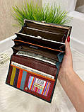 Женский кожаный кошелёк Dr. Bond Business с визитницей черный КБВ854, фото 4