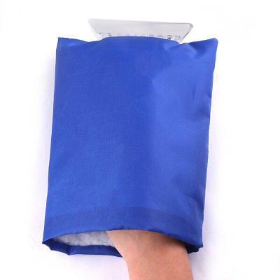Автомобильный скребок с перчаткой, синий