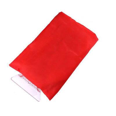 Автомобильный скребок с перчаткой, красный