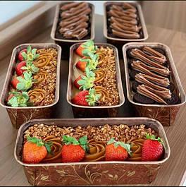 Бумажые формы для выпечки кексов, прямоугольные
