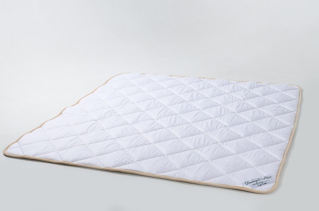 Ковдра з вовни мериносів біла класична 200х200