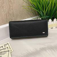 Женский кожаный кошелек Dr. Bond Classic черный КБК565